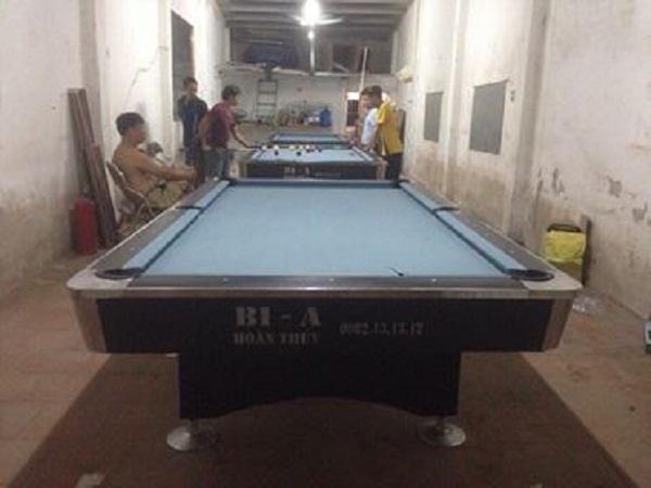 Billiards Hoàn Thúy lắp ba bàn 9018 tại Hưng Yên
