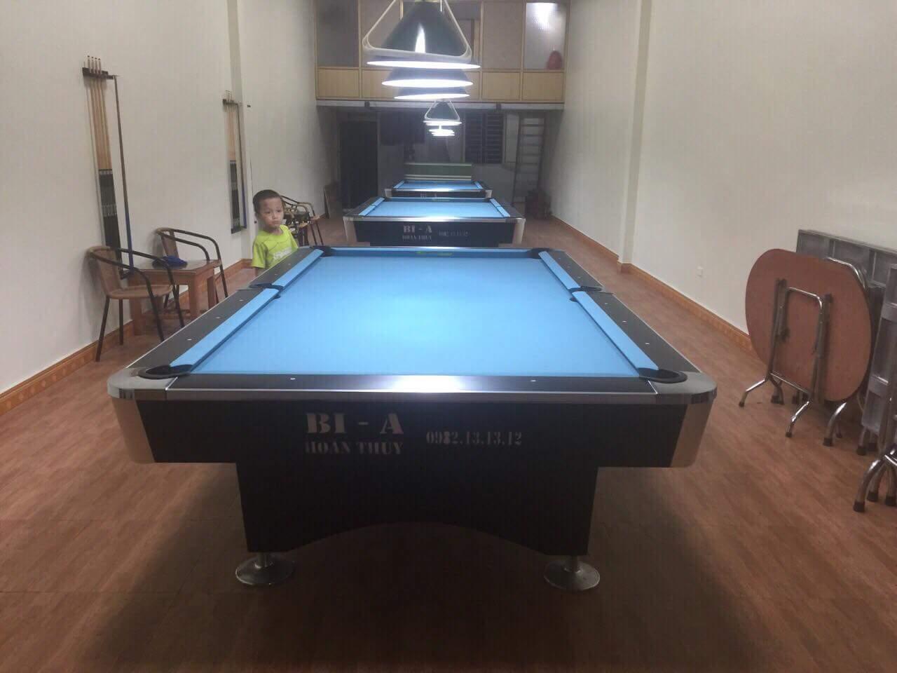 Billiards Hoàn Thúy lắp 3 bàn 9018 liên doanh Taiwan tại Quảng Ninh