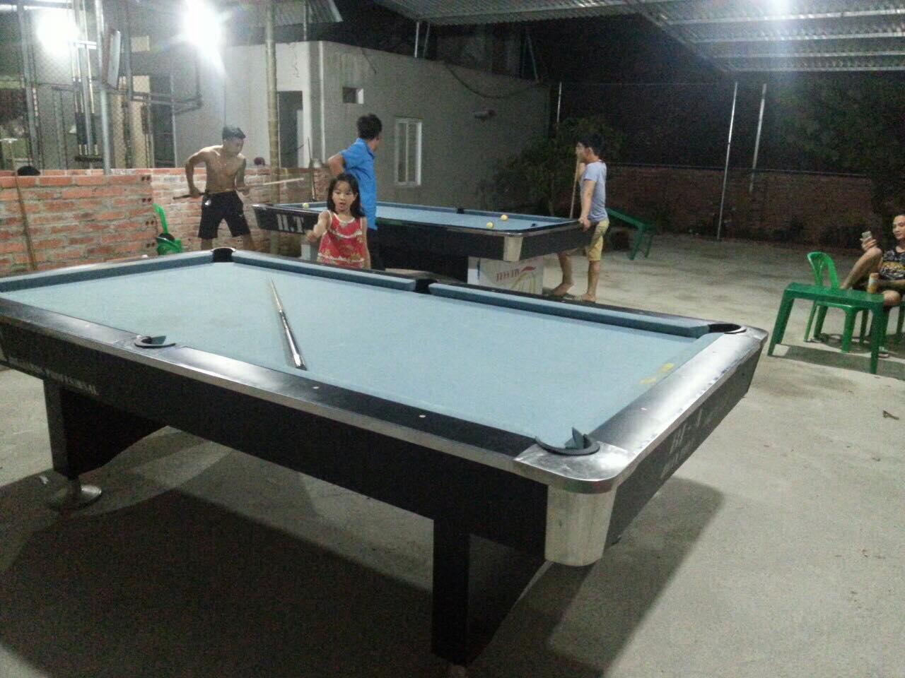 Billiards Hoàn Thuý lắp đặt 2 bàn bi a 9018 Việt Nam tại Bắc Giang ngày 20/7/2018