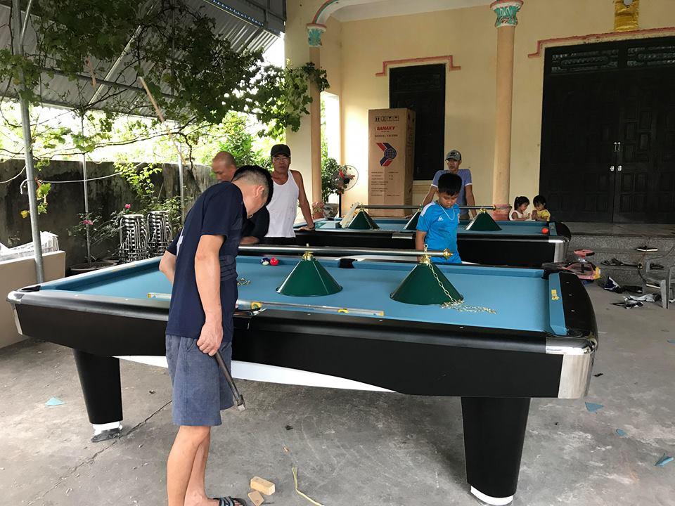 Billiards Hoàn Thúy lắp 2 bàn bi a 9017 liên doanh Taiwan tại Vũ Thư – Thái Bình
