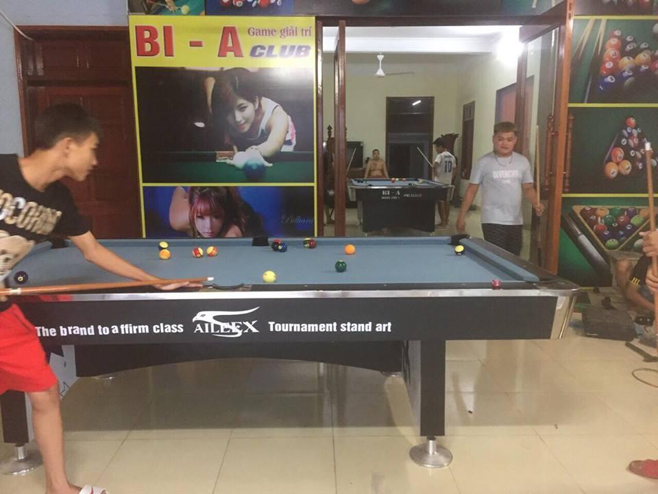 Billiards Hoàn Thúy lắp 2 bàn bi a 9018 Việt Nam tại Lạng Giang – Bắc Giang