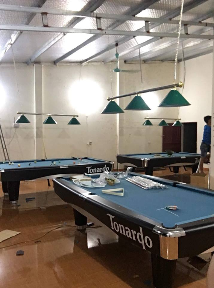 Billiards Hoàn Thúy lắp đặt 3 bàn bi a Tonardo tại Lục Nam, Bắc Giang