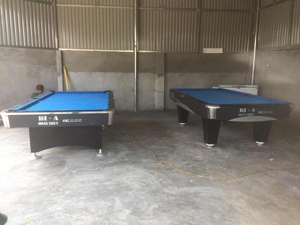"""Billiards Hoàn Thúy đã lắp đặt thêm 2 bàn bi a 9018 Việt Nam tại """"Bi a Hoàng Hải"""" xóm 18 Kim Tân, Kim Thành, Hải Dương"""
