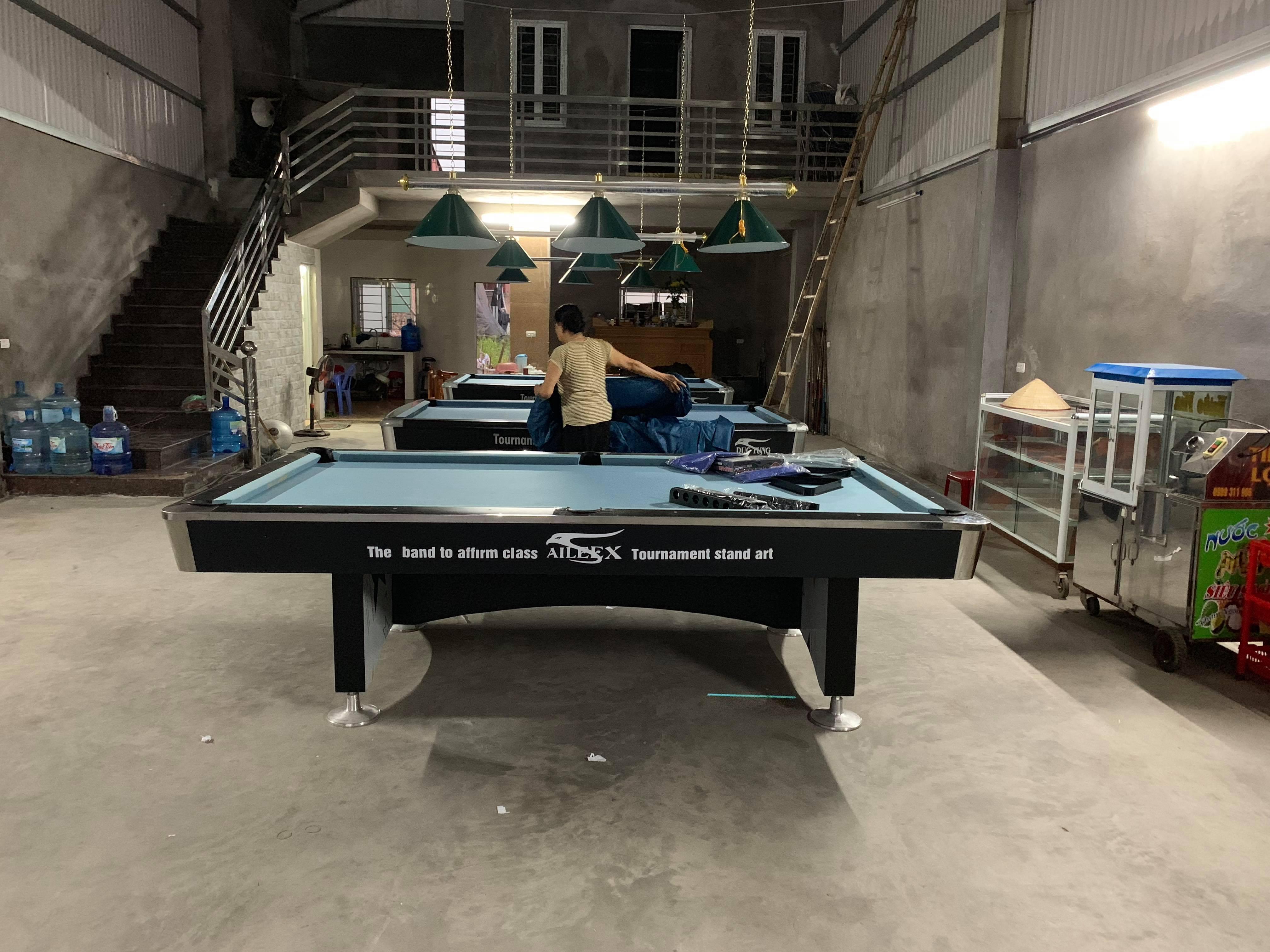 Billiards Hoàn Thúy lắp đặt thêm 3 bàn bi a 9018 đã qua sử dụng tại Từ Sơn, Bắc Ninh