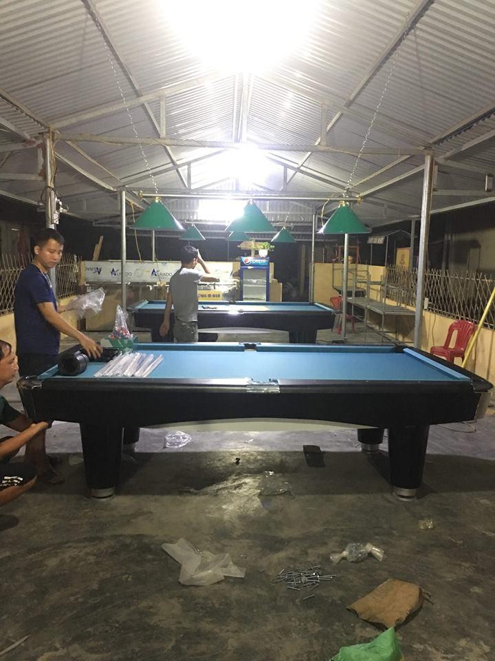 Billiards Hoàn Thúy lắp đặt 2 bàn bi a 9017 liên doanh Taiwan tại Bến Bèo, Cát Bà