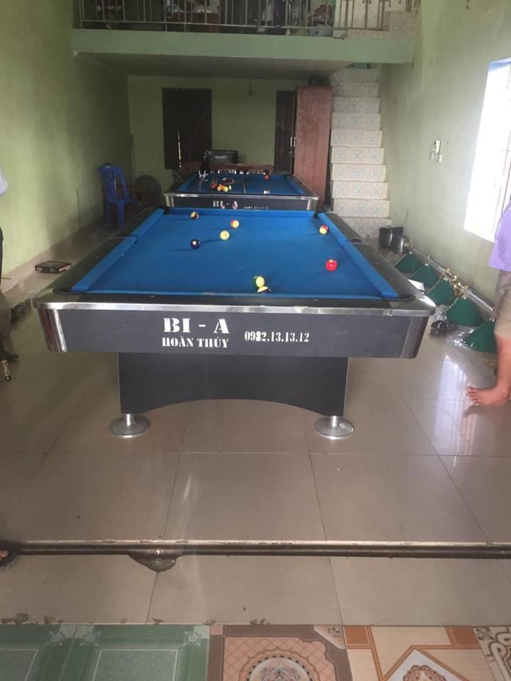 Billiards Hoàn Thúy lắp đặt 2 bàn bi a 9018 Việt Nam tại Ứng Hòa, Hà Nội