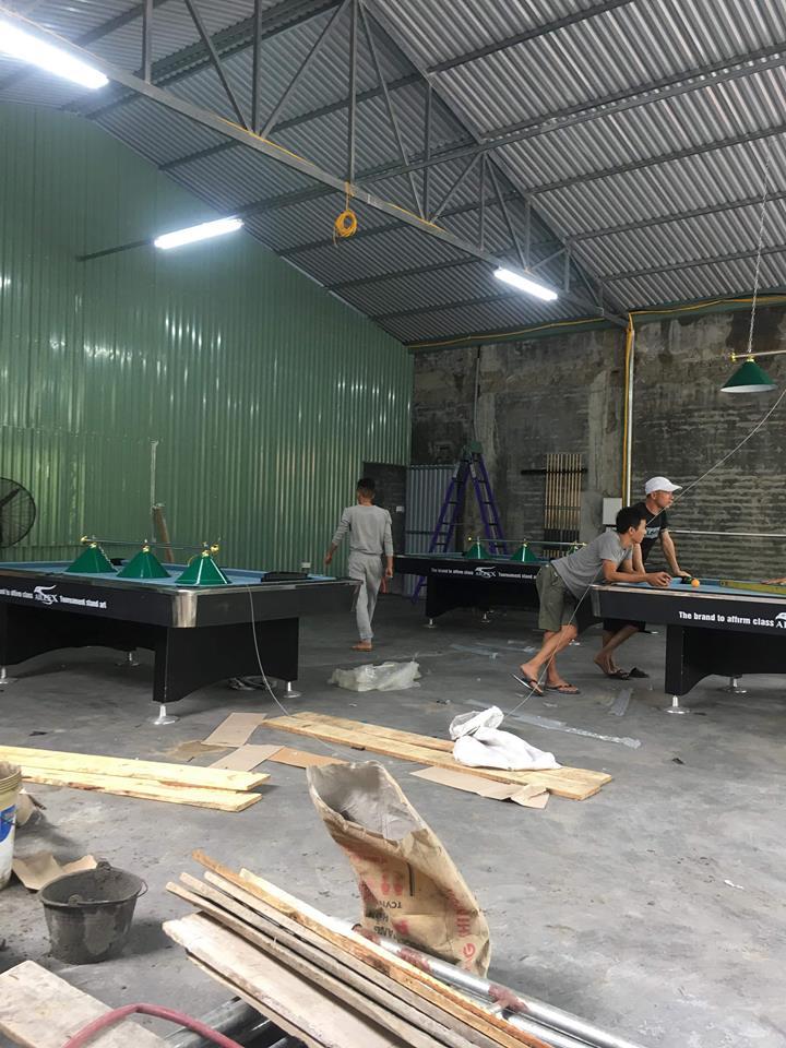 Billiards Hoàn Thúy lắp đặt 3 bàn bi a 9018 Việt Nam tại Cổng Chào, Cát Bà