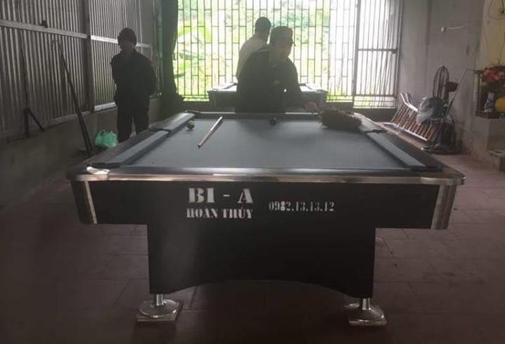 Billiards Hoàn Thúy lắp đặt 2 bàn bi a 9018 Việt Nam tại Chí Linh, Hải Dương