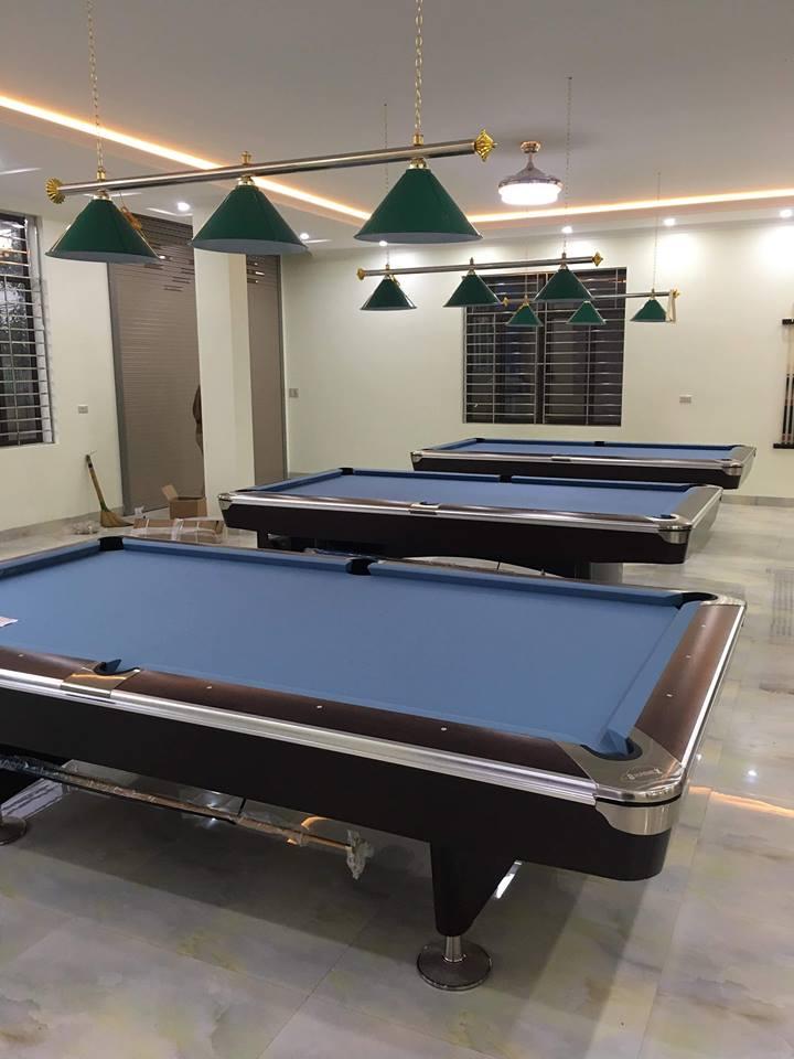 Billiards Hoàn Thúy lắp đặt 3 bàn bi a Bàn Brunswick nhập Taiwan tại Tân Phong, Lai Châu
