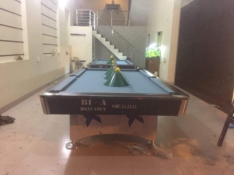 Billiards Hoàn Thúy lắp đặt 2 bàn bi a 9018 Việt Nam tại Đăng Châu – Lào Cai