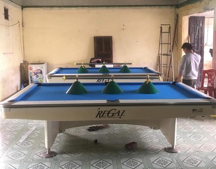 Billiards Hoàn Thúy lắp đặt 2 bàn bi a 9019 Regal đã qua sử dụng tại Quỳnh Lưu, Nghệ An