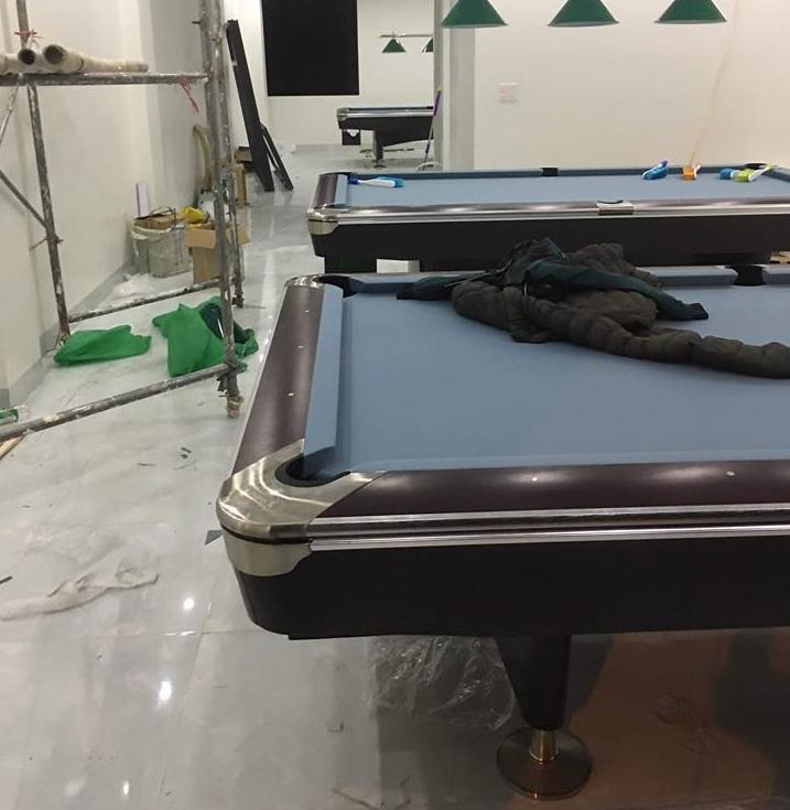 Billiards Hoàn Thúy lắp đặt 3 bàn bi a bàn 9019 Brunswick nhập Taiwan tại Phùng Chí Kiên – Thành Phố Nam Định