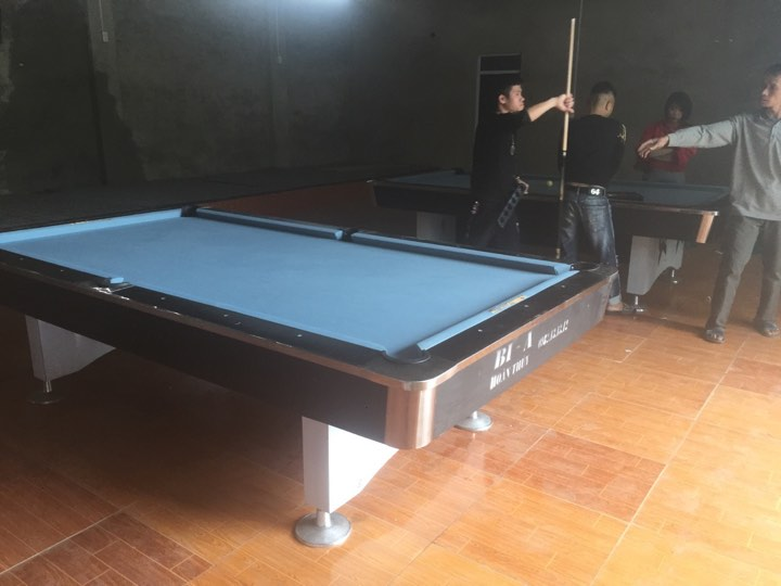 Billiards Hoàn Thúy lắp đặt 2 bàn 9018 Việt Nam tại Tx Phố Yên – Thái Nguyên