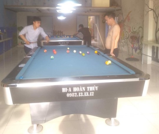 Billiards Hoàn Thúy lắp đặt 2 bàn 9018 liên doanh Taiwan tại Chương Mỹ, Hà Nội