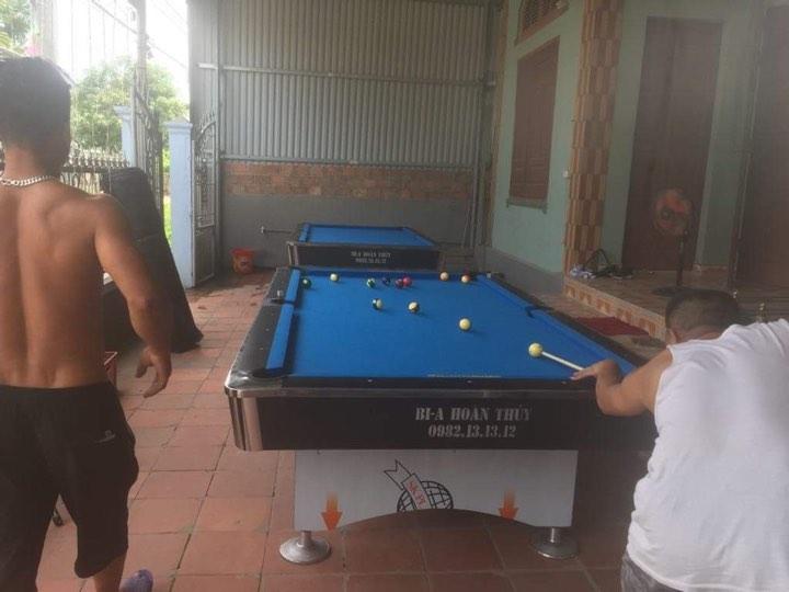 Billiards Hoàn Thúy lắp đặt 2 bàn 9018 Việt Nam tại Quảng Yên, Quảng Ninh