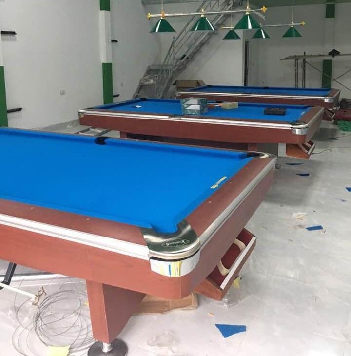 Billiards Hoàn Thúy lắp đặt 3 bàn 9019 Taiwan tại Mường Lay – Điện Biên