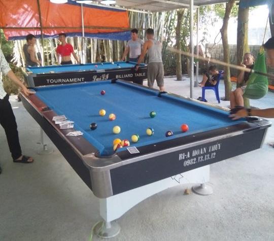 Billiards Hoàn Thúy lắp đặt 1 bàn 9018 Việt Nam và 1 bàn nhập lướt tại Hải Hoà, Móng Cái