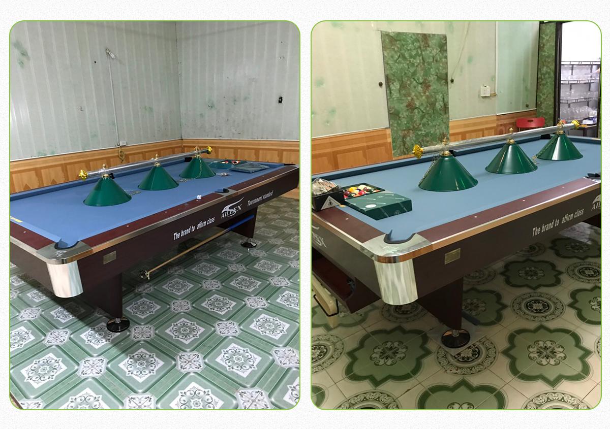 Billiards Hoàn Thúy lắp 2 bàn bi a 9018 aileex tại Gia Viễn, Ninh Bình