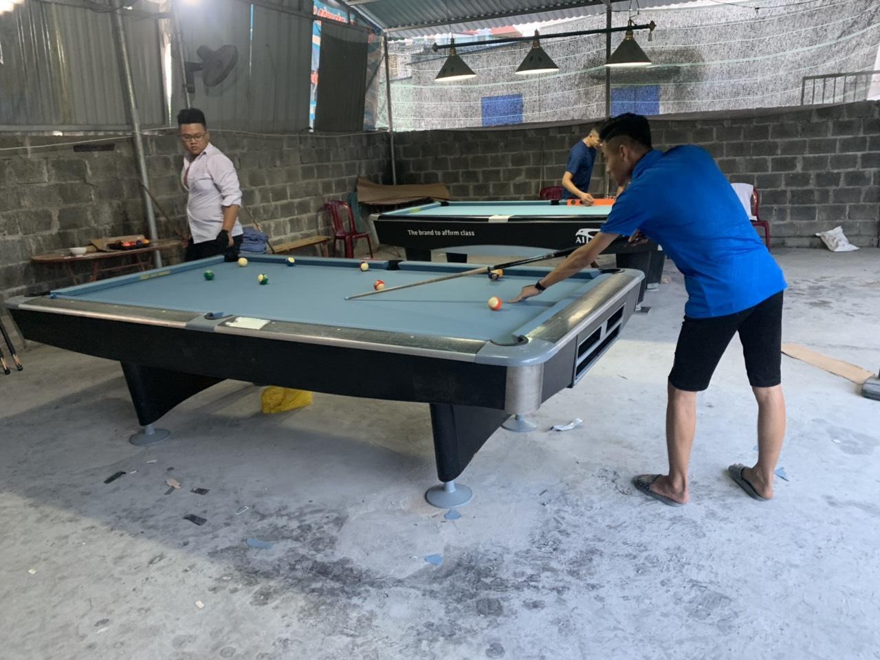 Billiards Hoàn Thúy lắp đặt 2 bàn bi a 9017 và seri 4 nhập lướt tại Thuỷ Nguyên, Hải Phòng