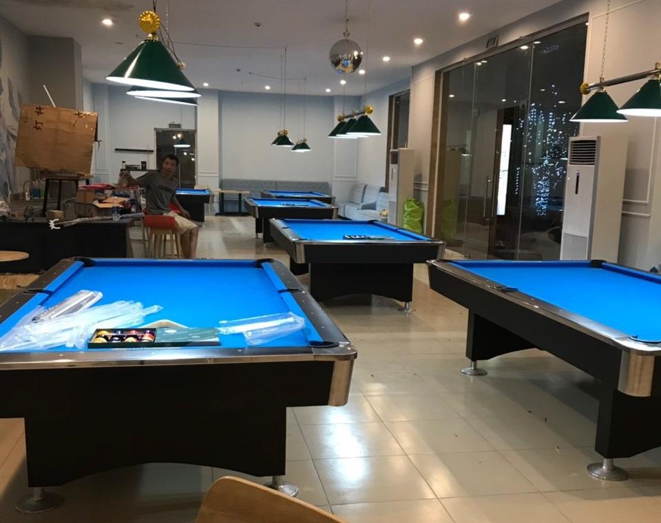 Billiards Hoàn Thúy lắp đặt 6 bàn 9018 Việt Nam tại Long Biên, Hà Nội