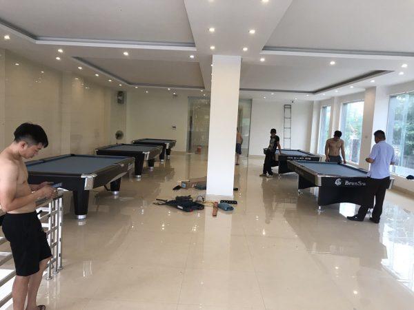 Bàn bi a nhập khẩu tại Nghệ An - Billiards Hoàn Thúy lắp đặt 3 bàn 9017 liên doanh Taiwan và 2 bàn 9018 Việt Nam tại Yên Thành,