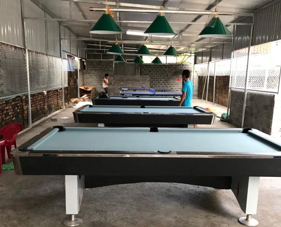 Billiards Hoàn Thúy lắp đặt 3 bàn 9018 Việt Nam và 2 bàn bóng bàn tại Tiên Lãng, Hải Phòng