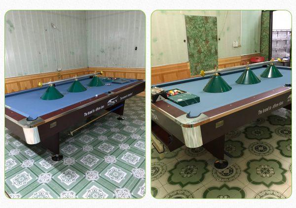 Mua bàn bi a tại Ninh Bình - Billiards Hoàn Thúy lắp 2 bàn bi a 9018 aileex tại Gia Viễn, Ninh Bình