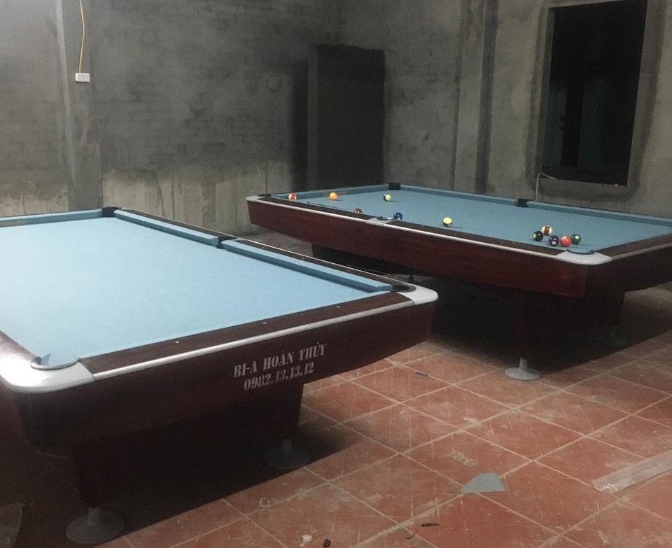 Billiards Hoàn Thúy lắp đặt 2 bàn seri 4 nhập lướt tại Lâm Thao, Phú Thọ