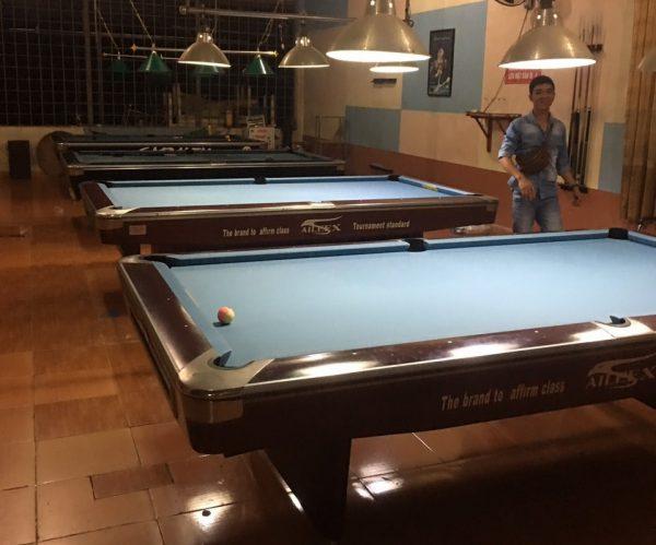 Bàn bi a thanh lý tại Billiards - Billiards Hoàn Thúy lắp đặt 4 bàn aileex 9019 tại Đoan Hùng, Phú Thọ