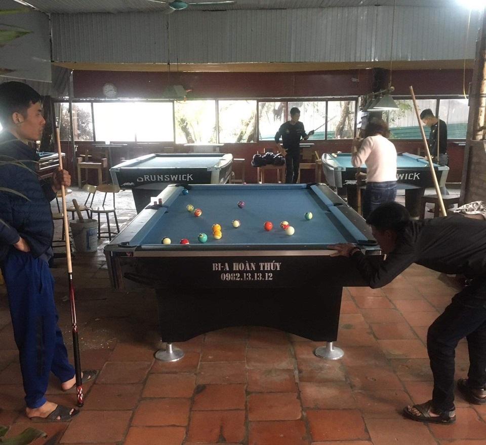 Billiards Hoàn Thúy lắp đặt 4 bàn 9017 nhập lướt 9018 liên doanh tại Phú Xuyên, Hà Nội