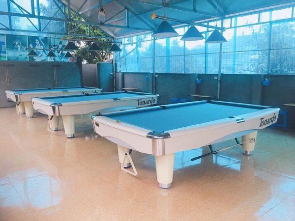 Giá bàn bida 6 lỗ - Billiards Hoàn Thúy lắp đặt 3 bàn bi a 9017 Tonardo tại Thanh Thuỷ, Phú Thọ