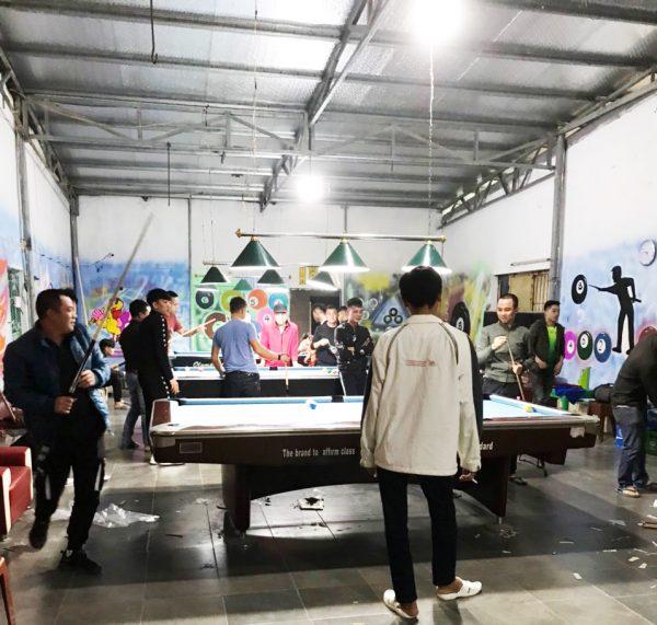 Billiards Hoàn Thúy lắp đặt 3 bàn aileex 9019 nhập lướt tại Vũ Hữu Lợi, Nam Định