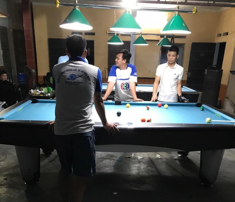 Billiards Hoàn Thúy lắp đặt 2 bàn bi a 9017 liên doanh Taiwan tại Thanh Miện, Hải Dương