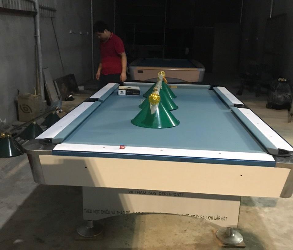 Billiards Hoàn Thúy lắp đặt 3 bàn bi a 9018 - 9017 aileex nhập lướt tại Tự Lập, Mê Linh