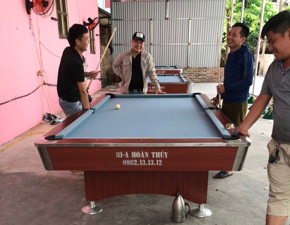 Billiards Hoàn Thúy lắp đặt 3 bàn 9018 tại Văn Giang, Hưng Yên