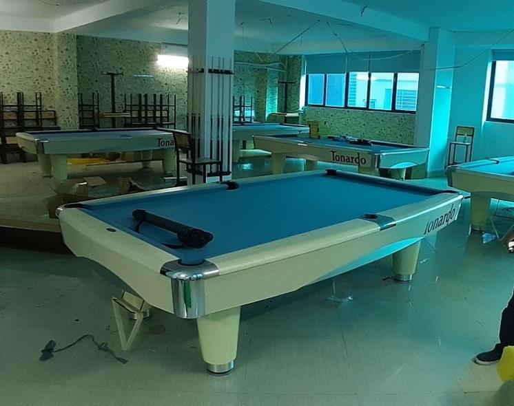 Billiards Hoàn Thúy lắp đặt 5 bàn bi a Tonardo tại Mễ Trì Thượng, Hà Nội