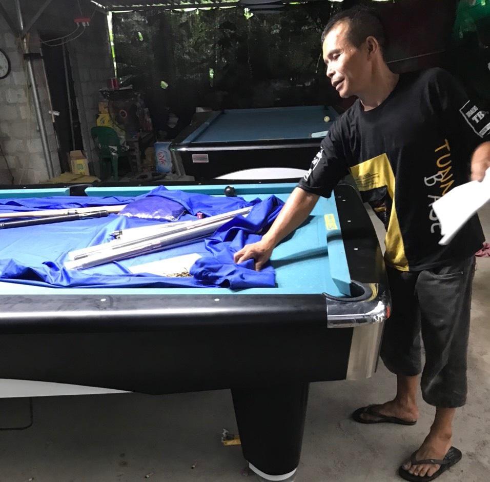 Billiards Hoàn Thúy lắp đặt 2 bàn bi a 9017 liên doanh Taiwan tại Thường Tín, Hà Nội