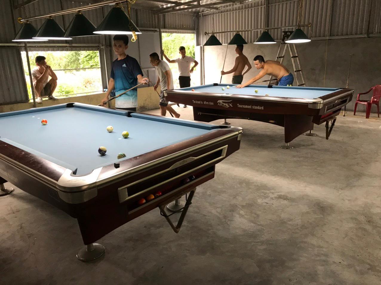 Billiards Hoàn Thúy lắp đặt 2 bàn 9019 nhập lướt tại Nam Trực, Nam Định
