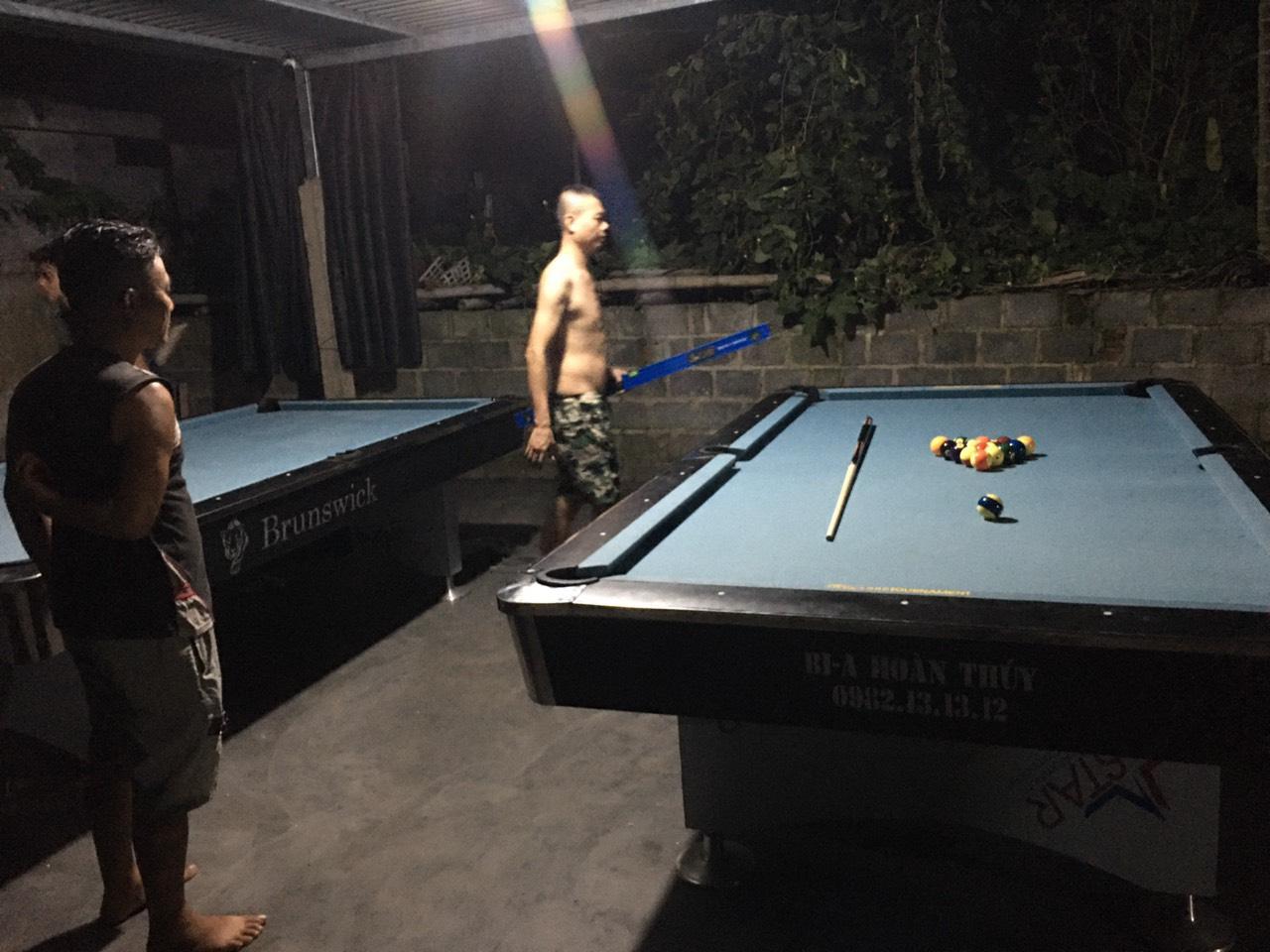 Billiards Hoàn Thúy lắp đặt 2 bàn 9018 tại Tiên Lãng, Hải Phòng