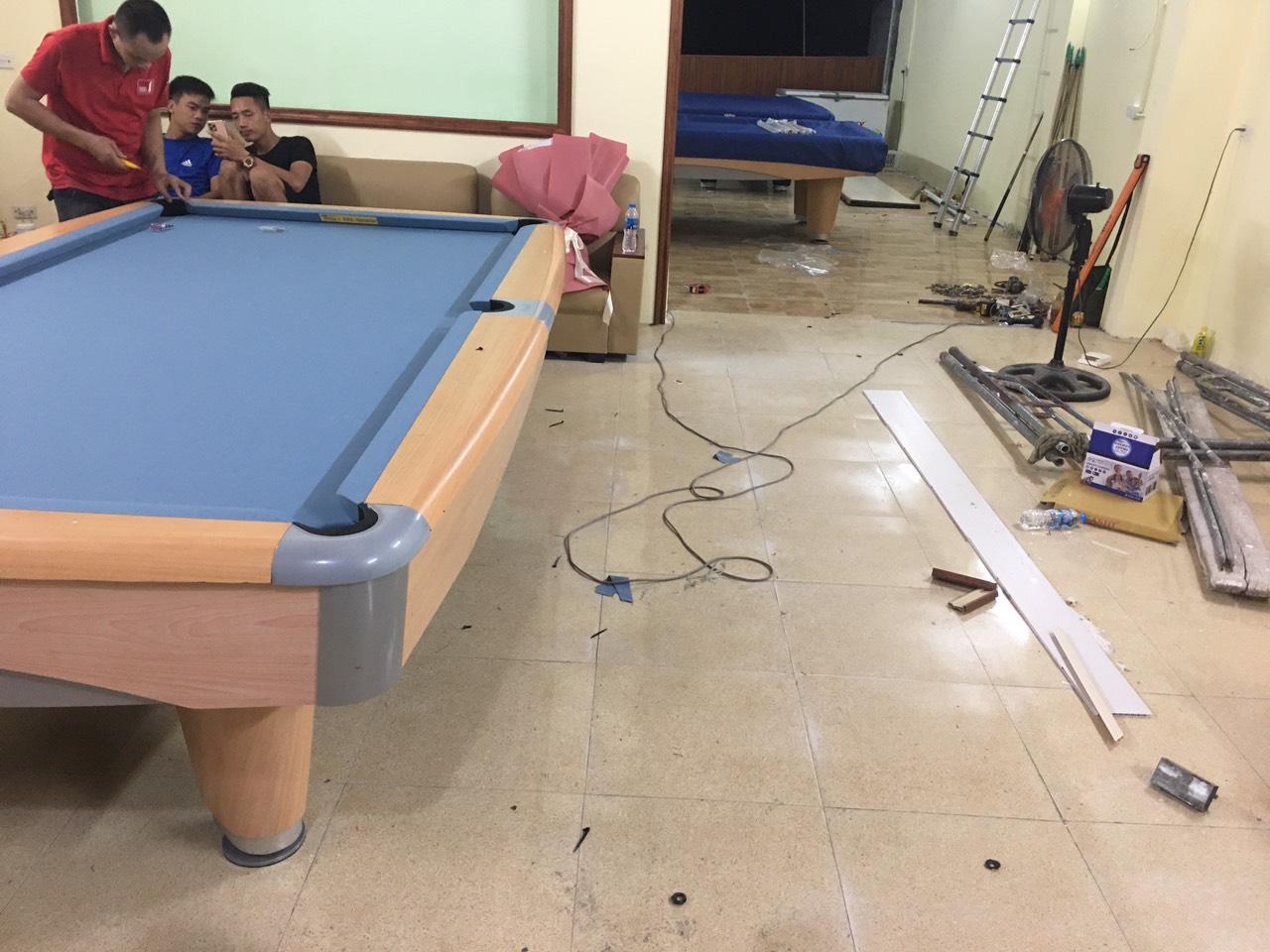 Billiards Hoàn Thúy lắp đặt 2 bàn bi a 9017 aileex nhập lướt tại Kim Bảng, Hà Nam