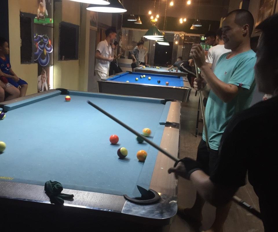 Billiards Hoàn Thúy lắp đặt 3 bàn 9018 tại Kim Bài, Thanh Oai, Hà Nội