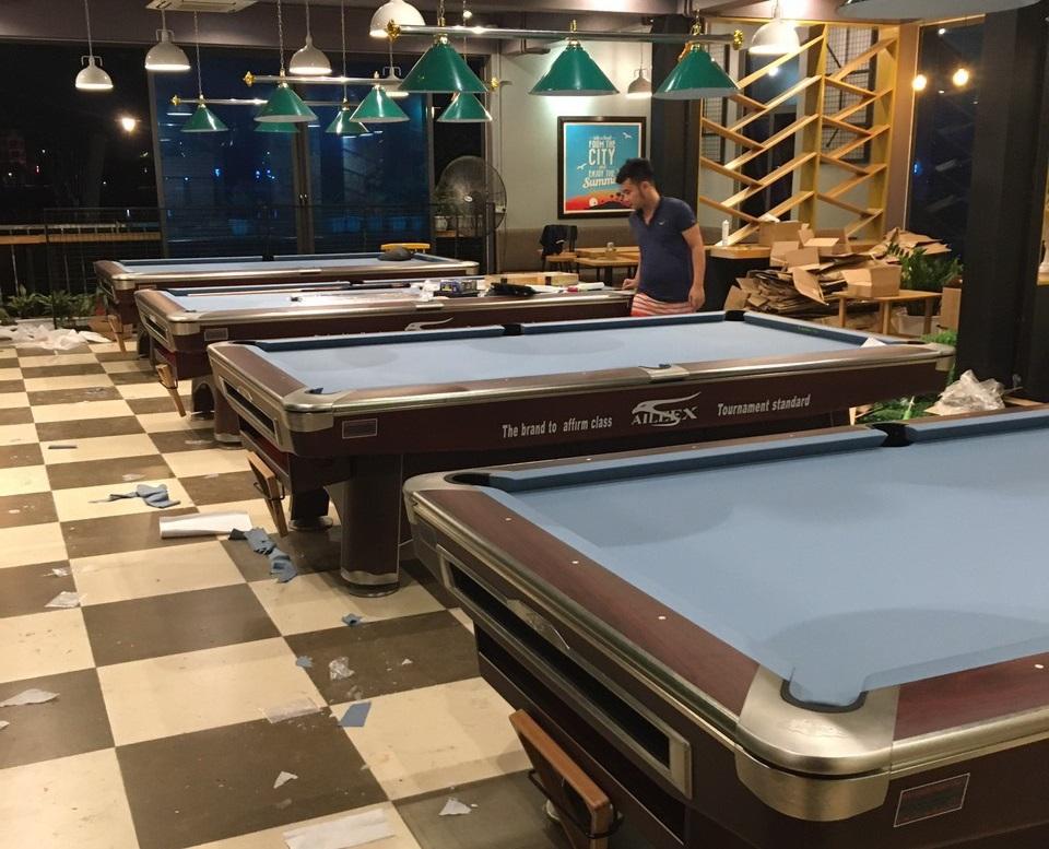 Billiards Hoàn Thúy lắp đặt 4 bàn aileex 9020 tại Việt Trì, Phú Thọ