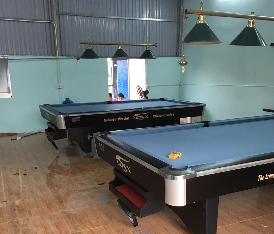 Billiards Hoàn Thúy lắp đặt thêm 2 bàn 9018 tại Nam Trực, Nam Định